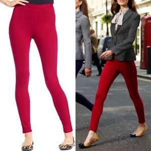 Hue Ponte Leggings Red Nordstrom Stretch Pants S